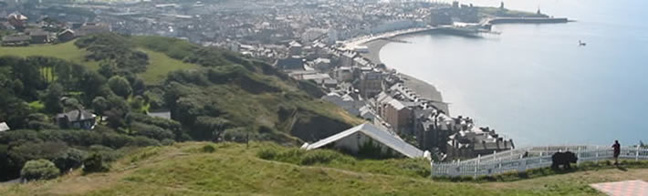 summer in Aberystwyth from the top of the cliff railway